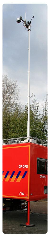 Teleskopmast für Feuerwehr und auch als Teleskopmaste für Mobilfunkanbieter einzusetzen