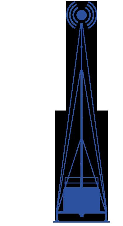 Grafik der mobilen Sendestation der Firma Vetters und Freywald - Funklochstopfer - Funklöcher stopfen, Funklöcher stopfen mit Mobilfunk Containern