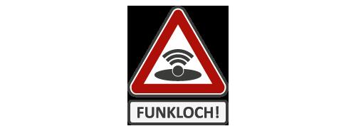 Icon für Funkloch, Funklöcher stopfen mit Mobilfunk Containern